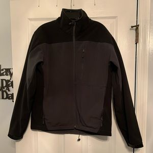 Men's black and grey insulated jacket